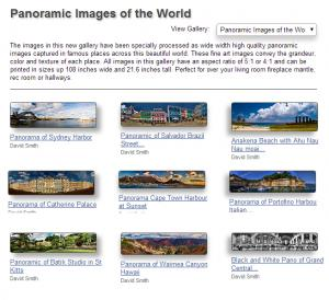 World Panorama Fine Art Image Gallery Announced